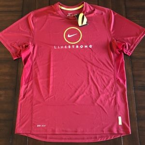NWT Nike Dri-Fit Lance Armstrong Livestrong shirt